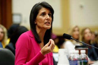 Nikki Haley said the 'horrible acts' seen in Charlottesville 'took me back to sad days dealing with the Charleston tragedy in 2015.' Photo: Reuters