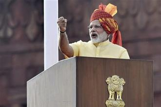 Prime Minister Narendra Modi would have done well to mention a change in the system of governance in his Independence Day speech. Photo: PTI