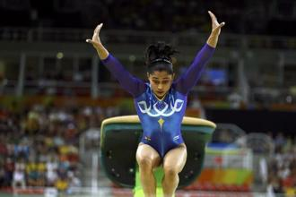 Dipa Karmakar during the 2016 Rio Olympics. Photo: Reuters