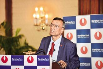 Bandhan Bank CEO Chandra Shekhar Ghosh. Bandhan Bank's IPO plans come at a time when investors have reaped heavy gains from IPOs of RBL Bank, AU Small Finance Bank, Ujjivan and Equitas Holdings. Photo: Indranil Bhoumik/Mint
