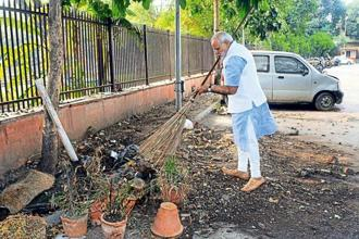 Prime Minister Narendra Modi launching the Swachh Bharat Abhiyan in New Delhi on 2 October 2014. The narrow focus of the programme has meant that its impact will be far lesser than what it could have been if it were integrated within an overall thrust to rebuild India's preventive public health apparatus. Photo: PIB