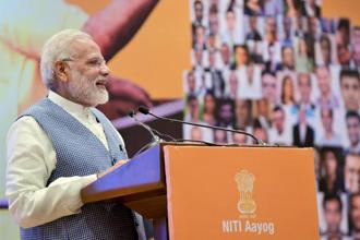 Prime Minister Narendra Modi said the combination of development and good governance is essential for the welfare and satisfaction of citizens. Photo: PTI