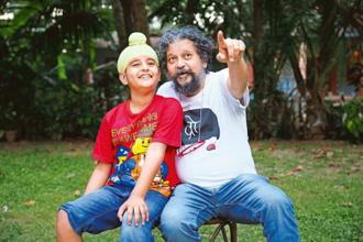 'Sniff!!!' star Khushmeet Gill and (right) Amole Gupte.