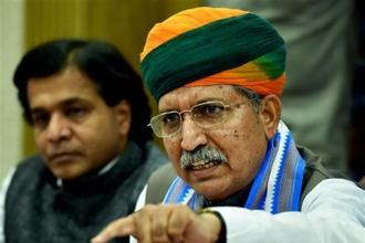 "Arjun Ram Meghwal described as ""a good step"" the Reserve Bank of India's decision to launch the Rs200 note. Photo: PTI"