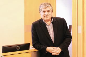 A file photo of Infosys chairman Nandan Nilekani. Photo: Hemant Mishra/Mint
