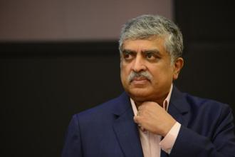 Nandan Nilekani is expected to play the role of a 'super CEO' in the short term as he steers Infosys out of tumultuous times. Photo: Hemant Mishra/Mint