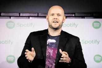 Daniel Ek, chief executive officer and co-founder of Spotify.  Photo: Bloomberg