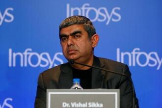 Vishal Sikka resigned as Infosys CEO last week. Photo: Reuters