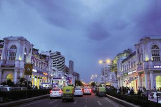 Connaught Place in Delhi saw rental growth of 2.2%, behind Bengaluru's central business district (CBD) which recorded the highest growth of 4%. Photo: Sonu Mehta/Mint