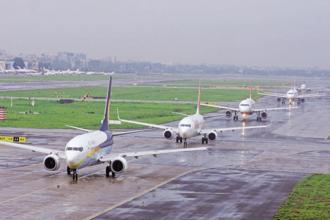 Several flights were delayed at Mumbai airport and many were asked to hover before they could land due to the heavy rains in Mumbai. File photo: HT