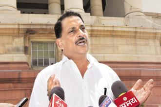Rajiv Pratap Rudy, minister of state for skill development . The skills ministry has taken the view that NSDC is not equipped to implement and monitor schemes. Photo: HT