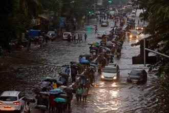 Mumbai received 298 mm of rainfall over a period of 9 hours on Tuesday, nine times more rain than the average, an IMD official said. Photo: Reuters