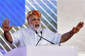 Narendra Modi's first visit to Gujarat will be on 13-14 September, when he travels to the state along with Japan PM Shinzo Abe for the ground-breaking ceremony of the bullet train. Photo: PTI