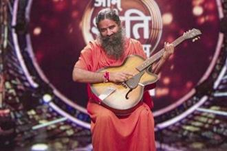The star of Star Bharat's singing reality show 'Om Shanti Om' is  Baba Ramdev.