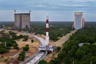 Isro's IRNSS 1H navigation satellite was launched from Sriharikota at 7pm on Thursday, but the lift-off was unsuccessful. Photo: PTI