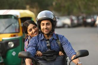Ayushmann Khurrana and Bhumi Pednekar in a still from 'Shubh Mangal Saavdhan'.