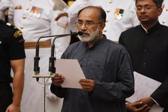 K.J. Alphons Kannanthanam, Minister of state (independent charge) of the ministry of tourism and MoS in the ministry of electronics and information technology. Photo: AFP
