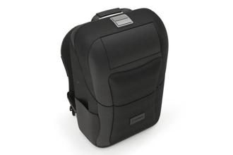 Watson backpack is made of waterproof ballistic nylon, has a solid interior shell and silicone lining around the edges.