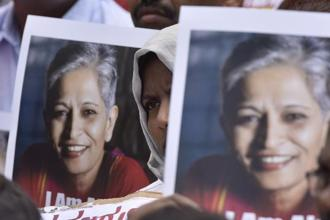 Kannada journalist Gauri Lankesh, 55, known as an anti-establishment voice with acrid anti-rightwing views, was shot dead at close range by unknown assailants at her home in Raj Rajeshwari Nagar in Bengaluru. Photo: Hindustan Times
