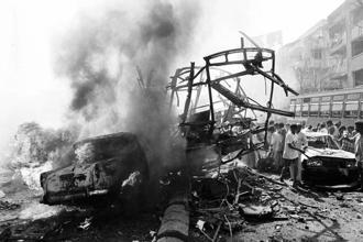 A file photo of 1993 Mumbai serial bomb blasts. Photo: AP