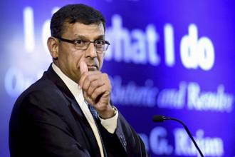 Former RBI governor Raghuram Rajan was in Delhi on Thursday for the launch of his book 'I Do What I Do'. Photo: PTI