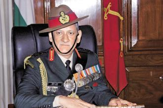 """As far as (the) northern adversary is concerned, the flexing of muscle has started,"" Bipin Rawat had said about China at a seminar. PTI"