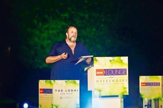William Dalrymple during his talk on India's history of olfactory. Photo: Photographs: Pradeep Gaur/Mint