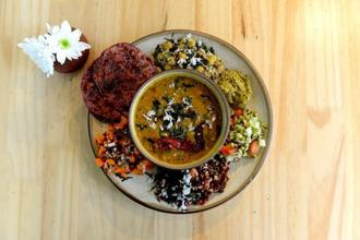 A Plateful of Goodness, Happy Healthy Me's version of the 'thali'. Photos: Hemant Mishra/Mint.