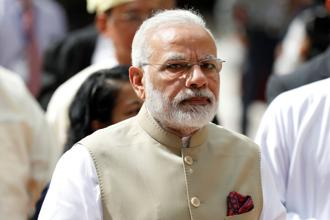 Prime Minister Narendra Modi. The slow GDP growth during the June quarter is being attributed to the lingering impact of demonetisation and GST implementation. Photo: Reuters