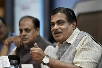 Transport minister Nitin Gadkari. India plans to invest as much as Rs3.96 trillion in FY18 to bankroll its new integrated infrastructure project which involves building of  roads, railways, waterways and airports. Photo: PTI