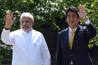 PM Narendra Modi and Japanese counterpart Shinzo Abe will hold official bilateral talks in Ahmedabad on Thursday. Photo: PTI
