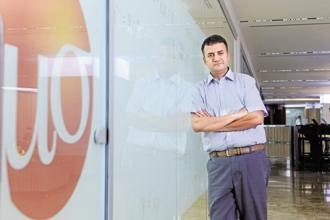 Dhiraj Rajaram, co-founder and chief executive of Mu Sigma, a data analytics start-up. Photo: Hemant Mishra/Mint