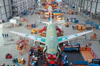 The Single Aisle A320 production line at the Airbus facility in Finkenwerder near Hamburg, Germany. Photos: Reuters