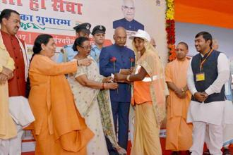The Swachhta Hi Seva was launched on Friday by President Ram Nath Kovind from Uttar Pradesh. Photo: PTI