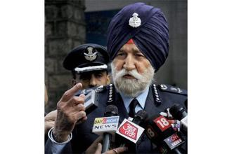 A file photo of Marshal of the Indian Air Force Arjan Singh, famous for his role in the 1965 India- Pakistan war. Photo: PTI
