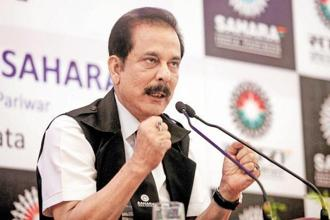 Sahara group chief Subrata Roy. Sahara had pegged Aamby Valley's valuation at over Rs1 trillion. Photo: PTI