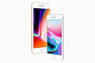 The iPhone 8's 4.7-inch screen and the iPhone 8 Plus' 5.5-inch screen are of the same size and resolution as before, but have been tweaked for better brightness and richer colours.
