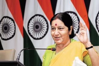 File photo. Foreign minister Sushma Swaraj is scheduled to leave for India, a day after her address to the UN General Assembly on 23 September. Photo: Sonu Mehta/HT