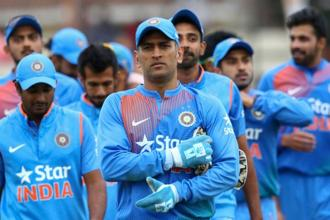 If Mahendra Singh Dhoni is conferred with Padma Bhushan, he will become the 11th Indian cricketer to get the third highest civilian honour. Photo: AFP