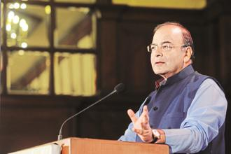 Finance minister Arun Jaitley. India GDP growth slowed to 5.7% in the quarter ended 30 June, the slowest in three years, sparking concern over the state of the economy. Photo: Indranil Bhoumik/Mint