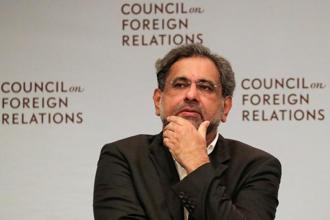 Pakistani Prime Minister Shahid Khaqan Abbasi joined a panel discussion with the Council on Foreign Relations in Manhattan, New York on Wednesday. Photo: Reuters
