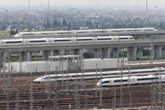 File photo. China's Fuxing trains are capable of top speeds of 400km per hour. Photo: Qilai Shen/Bloomberg