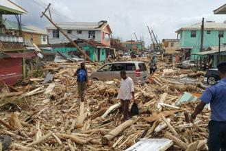 Hurricane Maria ripped roofs off almost all structures on the island country of Dominica, where seven people were confirmed dead. Photo: AFP