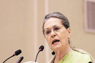 Sonia Gandhi also assured support of her party to the legislation, which she said would be a 'significant' step forward in the empowerment of women. Photo: PTI