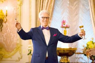 The crown prince of the sitcom, Ted Danson in a still from 'The Good Place'.