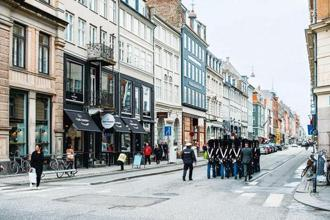 Gothersgade street in Copenhagen has a row of fashion brands.