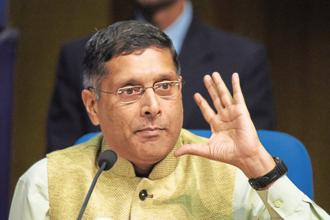 On the appreciation of the rupee, chief economic adviser Arvind Subramanian said all emerging economies face this problem, with a surge in capital inflow putting pressure on the exchange rate. Photo: Vipin Kumar/HT