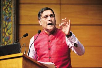 Chief economic advisor Arvind Subramanian has been tasked with preparing details of the pressure points facing the economy and the probable remedies. File photo: Pradeep Gaur/Mint