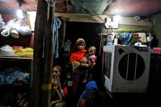 A Rohingya family at a refugee camp in Delhi. It is true that every Rohingya cannot be viewed as a terrorist but terror organizations such as the Islamic State and Al-Qaeda can succeed in indoctrinating them and turning them into terrorists. Photo: Reuters