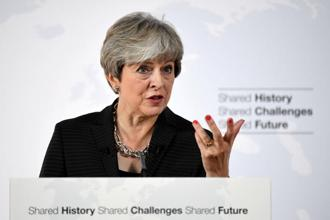 Theresa May's task of balancing the demands of Europe and those of her own colleagues was made harder by her domestic political woes. Photo: Reuters